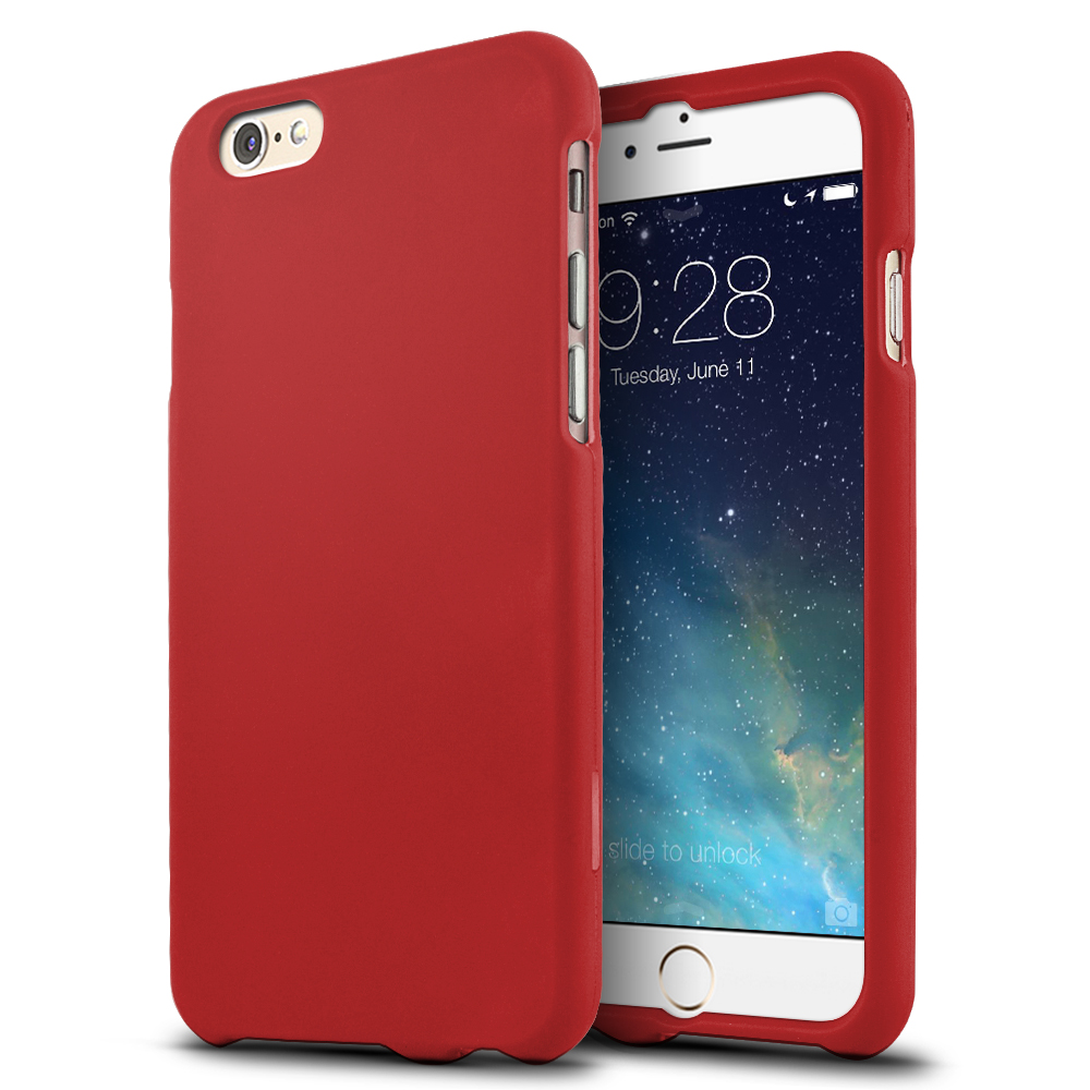 Made for Apple iPhone 6/ 6S Case,  [Red]  Slim Protective Rubberized Matte Finish Snap-on Hard Polycarbonate Plastic Case Cover by Redshield