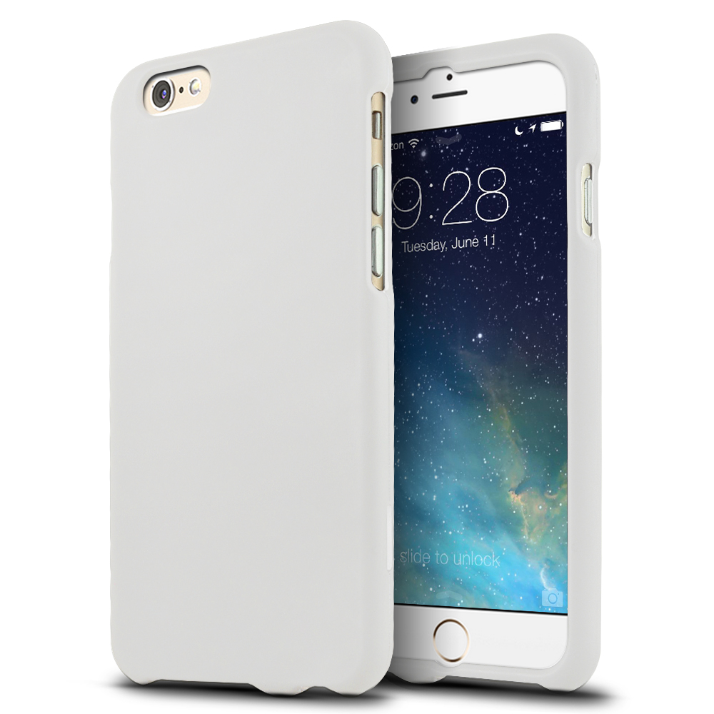 Apple iPhone 6/ 6S Case,  [White]  Slim & Protective Rubberized Matte Finish Snap-on Hard Polycarbonate Plastic Case Cover