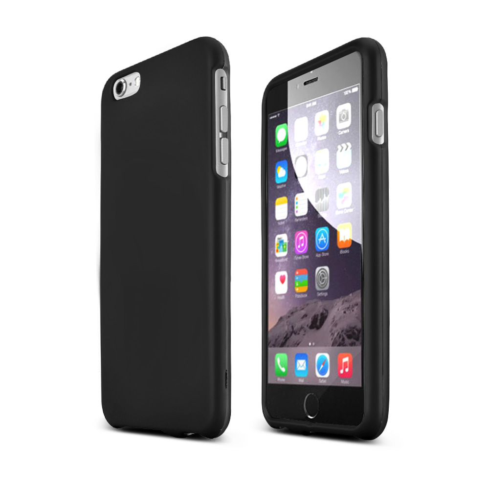Apple iPhone 6 PLUS/6S PLUS (5.5 inch) Hard Case,  [Black]  Slim & Protective Rubberized Matte Finish Snap-on Hard Polycarbonate Plastic Case Cover