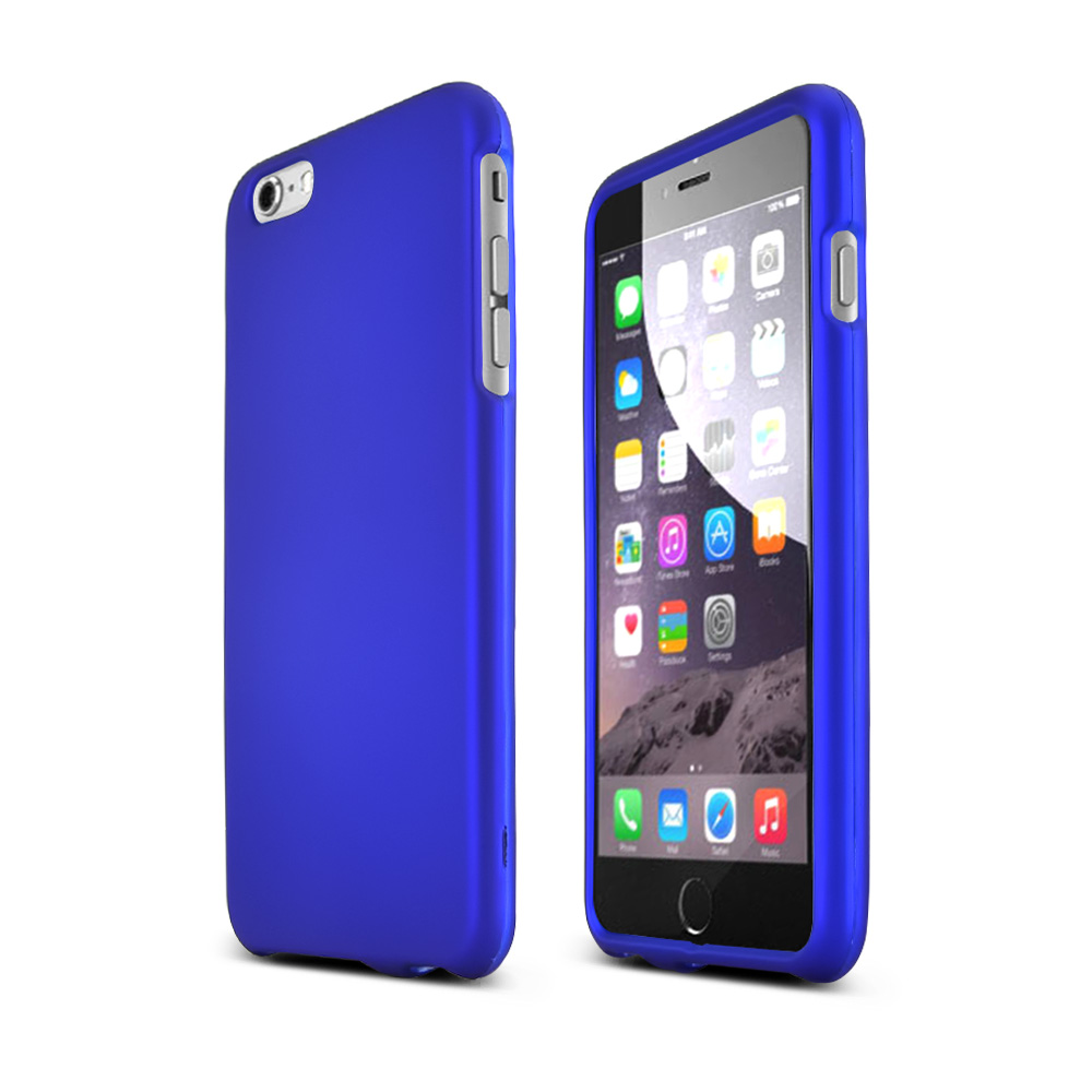 Apple iPhone 6 PLUS/6S PLUS (5.5 inch) Hard Case,  [Blue]  Slim & Protective Rubberized Matte Finish Snap-on Hard Polycarbonate Plastic Case Cover