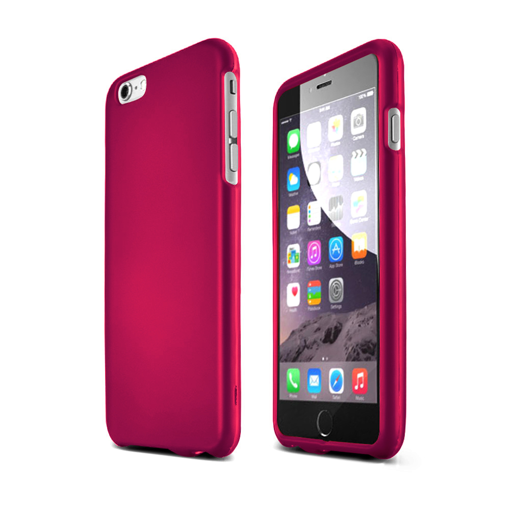 Apple iPhone 6 PLUS/6S PLUS (5.5 inch) Hard Case,  [Hot Pink]  Slim & Protective Rubberized Matte Finish Snap-on Hard Polycarbonate Plastic Case Cover
