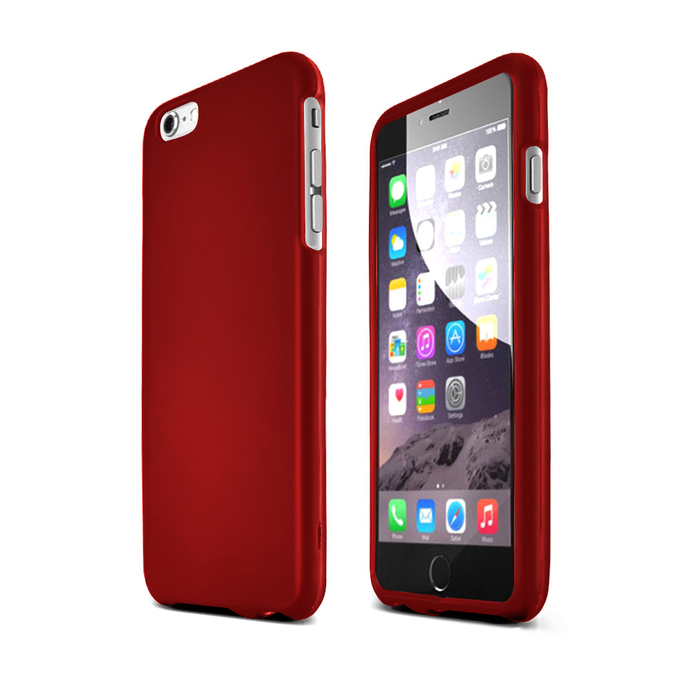 Made for Apple iPhone 6 PLUS/6S PLUS (5.5 inch) Hard Case,  [Red]  Slim Protective Rubberized Matte Finish Snap-on Hard Polycarbonate Plastic Case Cover by Redshield