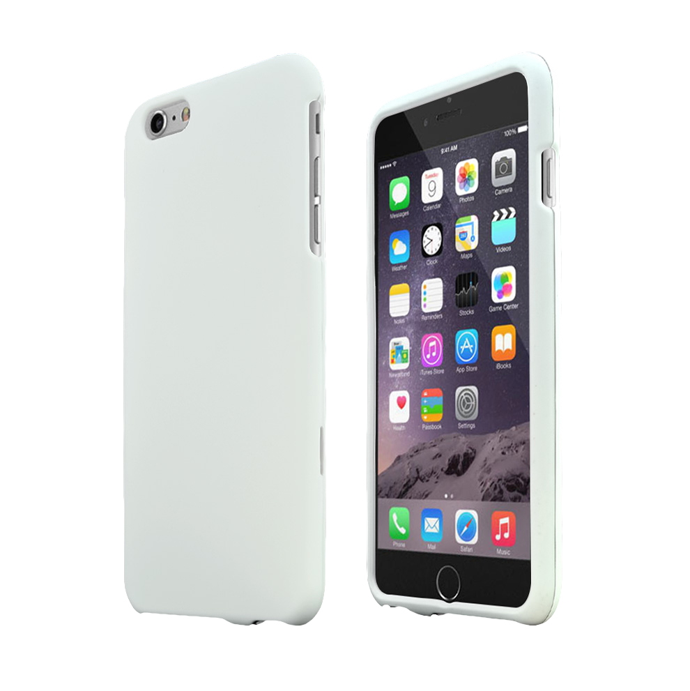 Apple iPhone 6 PLUS/6S PLUS (5.5 inch) Hard Case,  [White]  Slim & Protective Rubberized Matte Finish Snap-on Hard Polycarbonate Plastic Case Cover