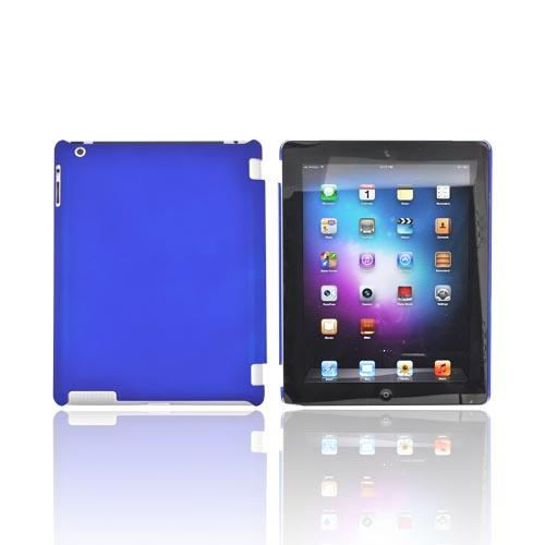 Apple New iPad (3rd Gen.) Rubberized Hard Case - Blue (Works with Smart Cover!)