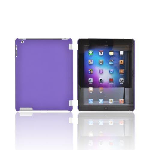 Made for Apple New iPad (3rd Gen.) Rubberized Hard Case - Purple (Works with Smart Cover!) by Redshield