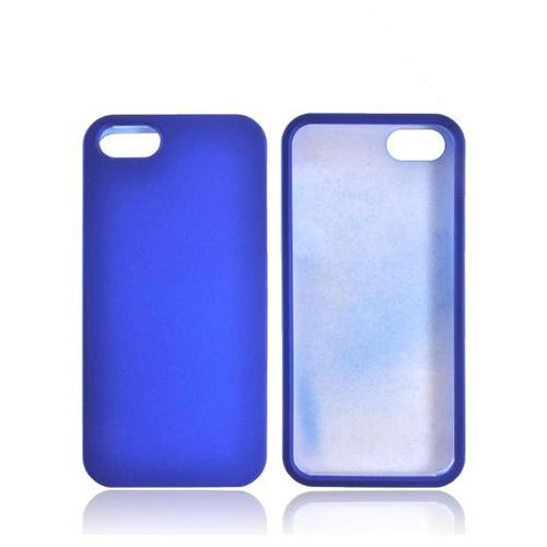 Apple iPhone SE / 5 / 5S Hard Case,  [Blue]  Slim & Protective Rubberized Matte Finish Snap-on Hard Polycarbonate Plastic Case Cover
