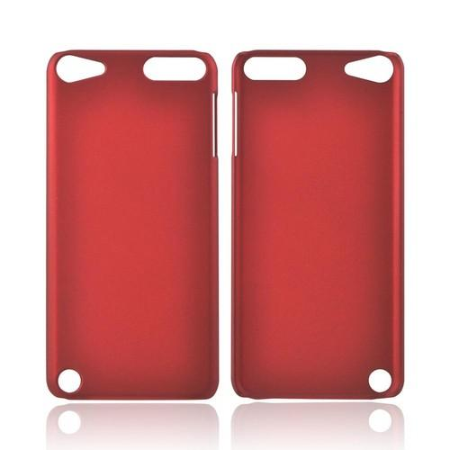 Apple iPod Touch 5 Rubberized Hard Case - Red