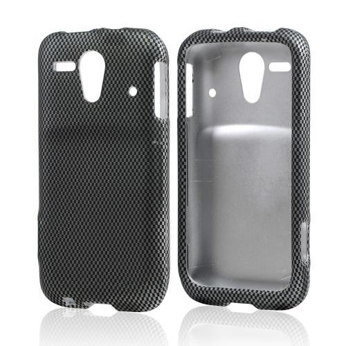 Carbon Fiber Design Rubberized Hard Case for Kyocera Hydro Edge