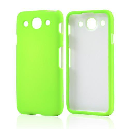 Neon Green Rubberized Hard Case for LG Optimus G Pro