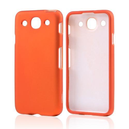 Orange Rubberized Hard Case for LG Optimus G Pro