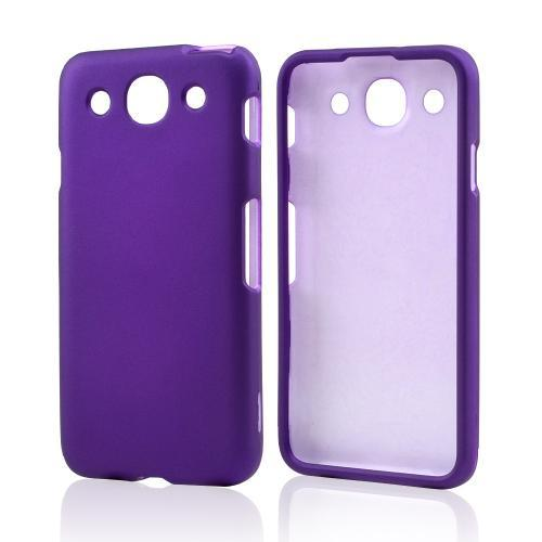 Purple Rubberized Hard Case for LG Optimus G Pro