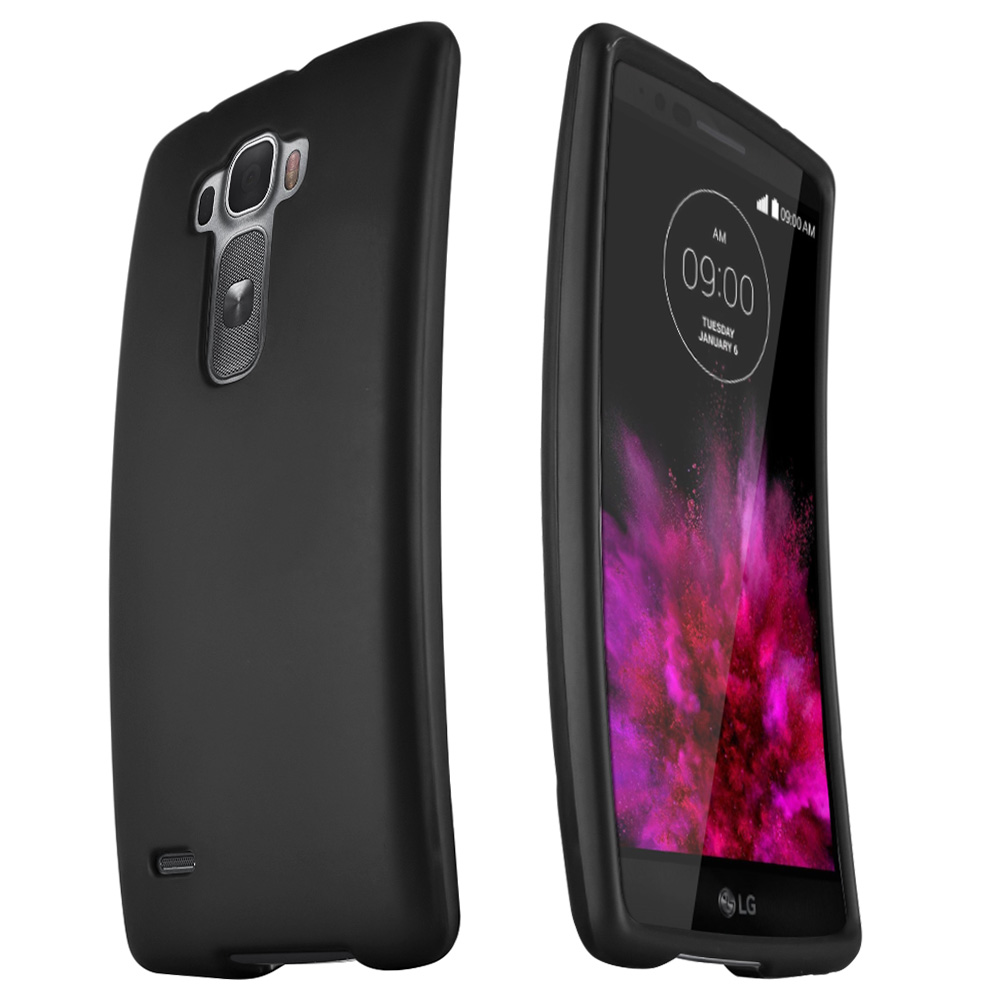 Black Slim Grip Rubberized Matte Snap-on Hard Polycarbonate Plastic Protective Case for LG G Flex 2