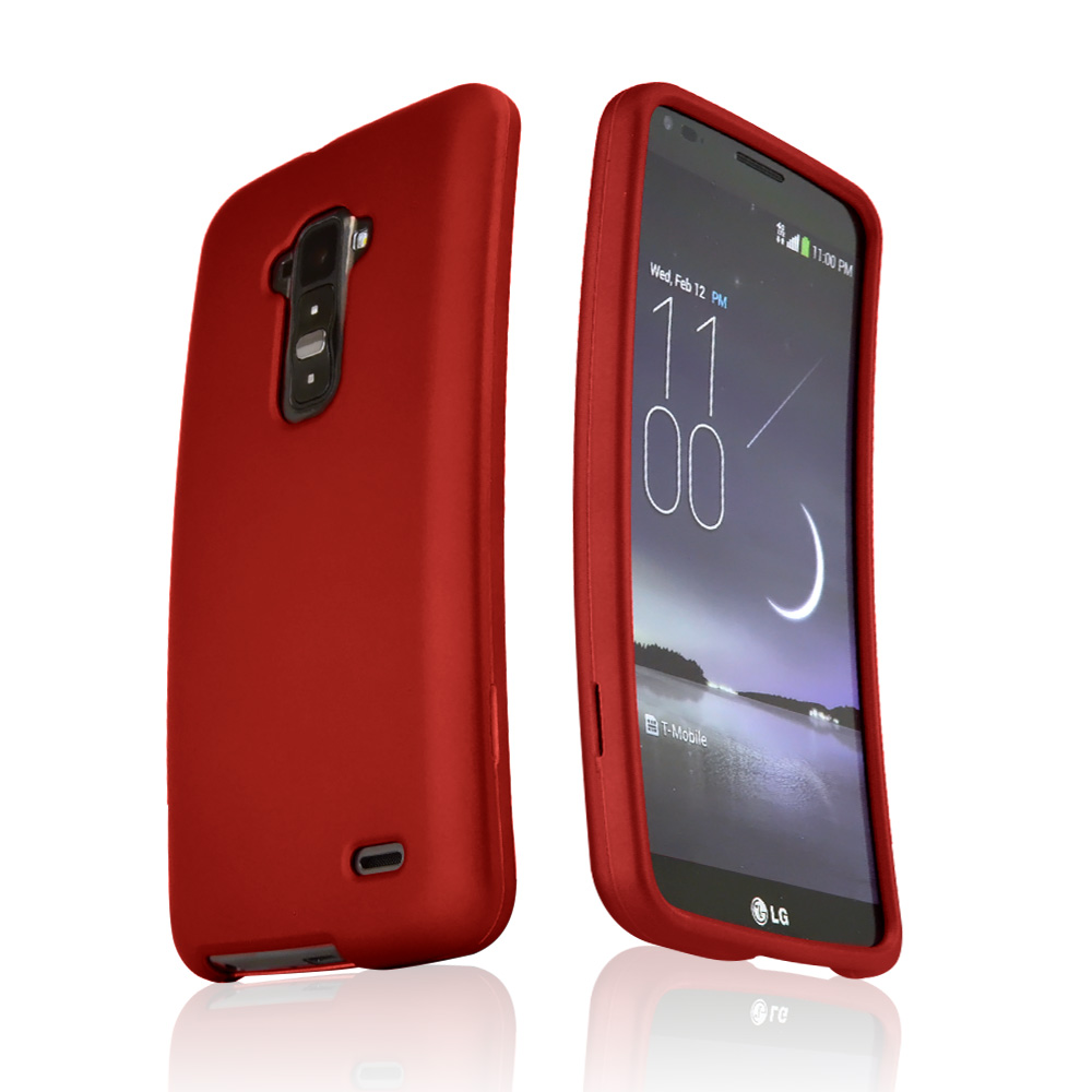 Red Rubberized Hard Case for LG G Flex