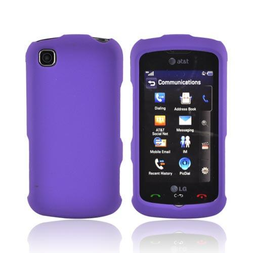 LG Encore GT550 Rubberized Hard Case - Purple