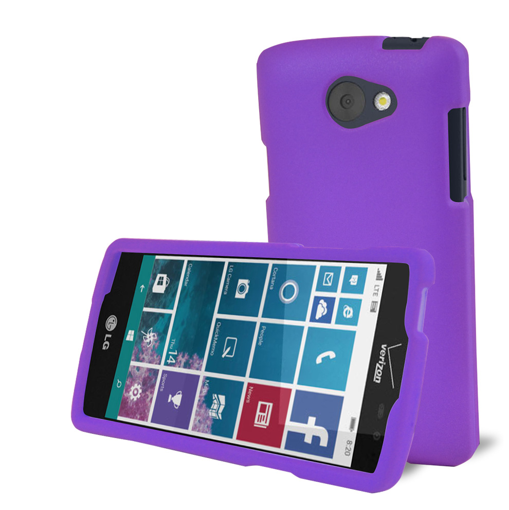 LG Lancet Case, [Purple] Slim & Protective Rubberized Matte Hard Plastic Case