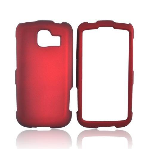LG Optimus S LS670 Rubberized Hard Case - Red