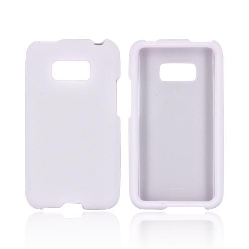 LG Optimus Elite Rubberized Hard Case - White