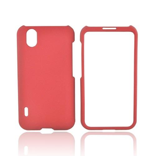 LG Marquee LS855 Rubberized Hard Case - Red