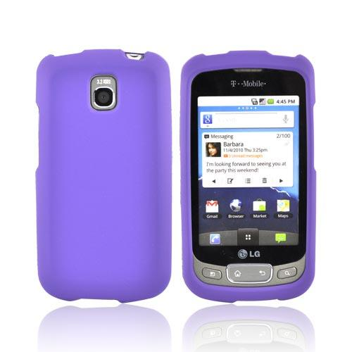 LT Optimus T, LG Thrive Rubberized Hard Case - Purple