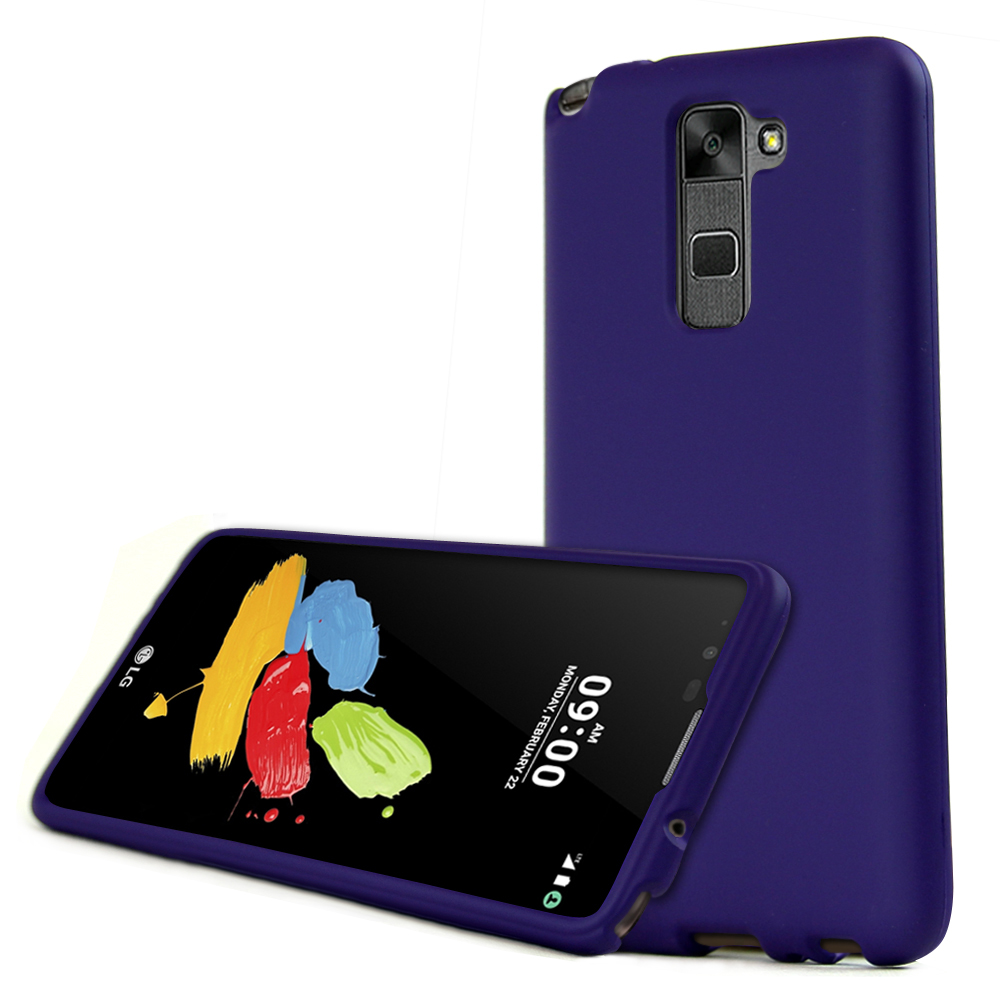 LG Stylo 2 Case, REDshield [Purple] Slim & Protective Rubberized Matte Finish Snap-on Hard Polycarbonate Plastic Case Cover