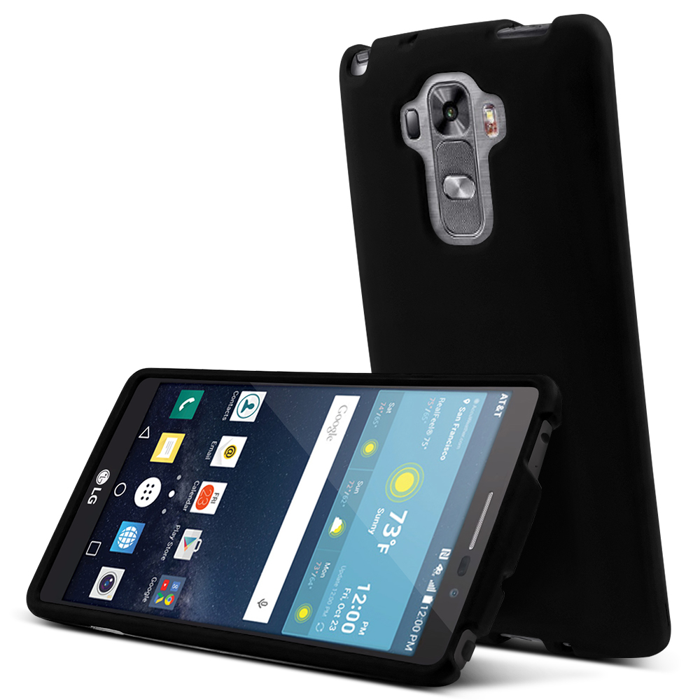 LG G Vista 2 Case, [Black] Slim & Protective Rubberized Matte Finish Snap-on Hard Polycarbonate Plastic Case Cover