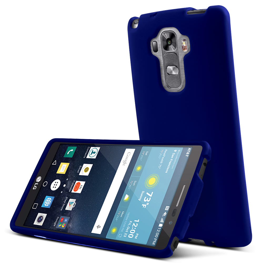 LG G Vista 2 Case, [Blue] Slim & Protective Rubberized Matte Finish Snap-on Hard Polycarbonate Plastic Case Cover