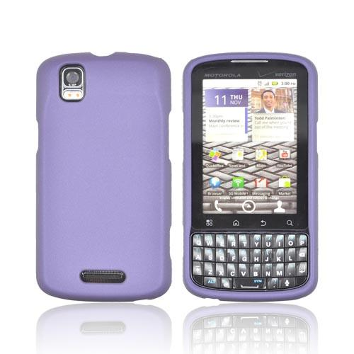 Motorola Droid Pro A957 Rubberized Hard Case - Purple