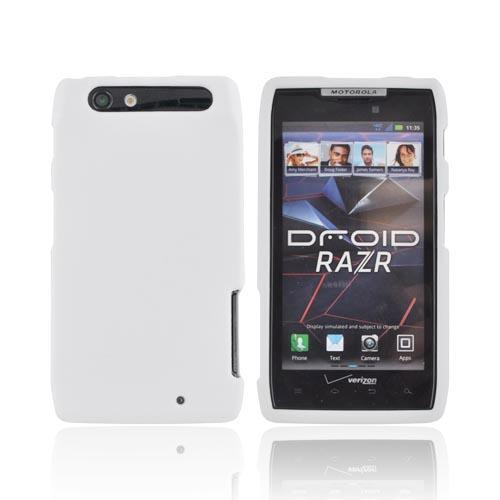 Motorola Droid RAZR Rubberized Hard Case - Solid White
