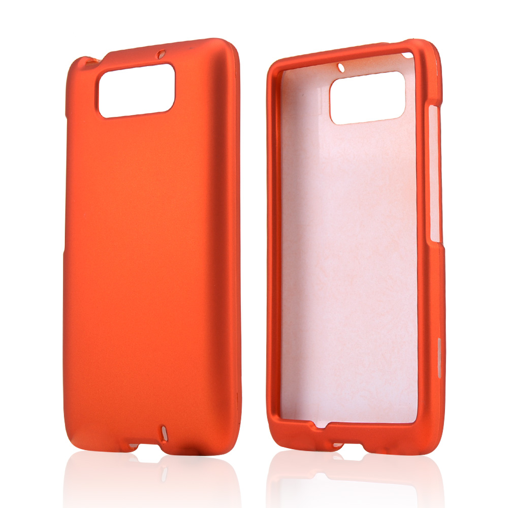Orange Rubberized Hard Case for Motorola Droid Ultra/ Droid MAXX