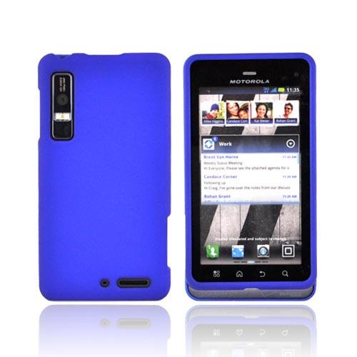 Motorola Droid 3 Rubberized Hard Case - Blue