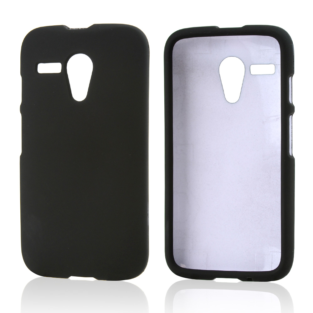 Black Rubberized Hard Case for Motorola Moto G