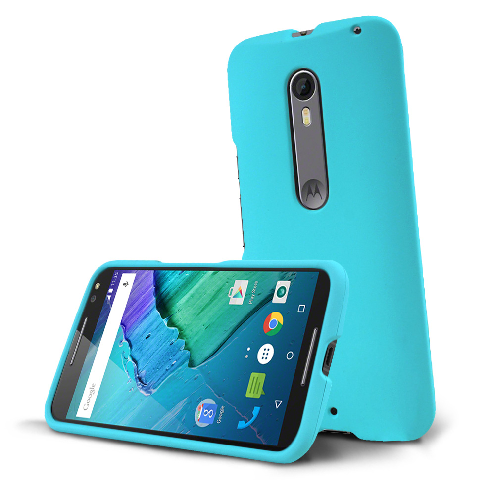 Motorola Moto X Pure Edition Case, [Mint] Slim & Protective Rubberized Matte Hard Plastic Case