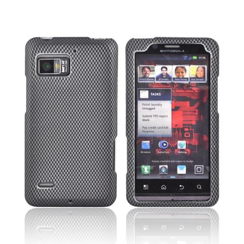 Motorola Droid Bionic XT875 Rubberized Hard Case - Carbon Fiber