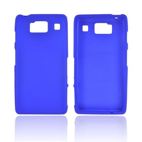 Motorola Droid RAZR HD Rubberized Hard Case - Blue