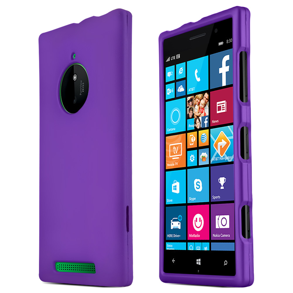 Nokia Lumia 830 Protective Rubberized Hard Case - Anti-Slip Matte Rubber Material [Slim and Perfect Fitting Nokia Lumia 830 (2014) Case] [Purple]