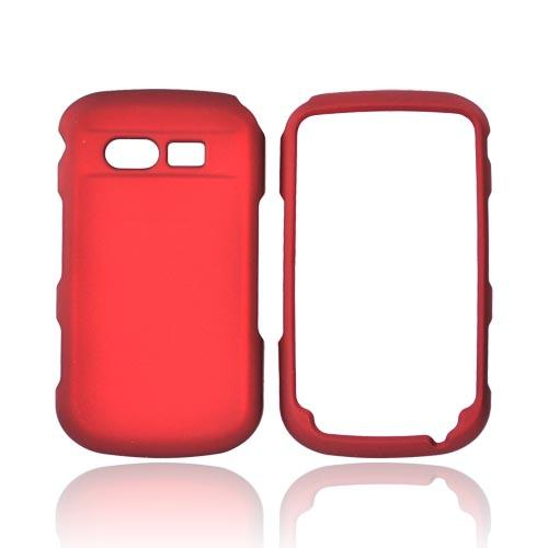 Pantech Caper Rubberized Hard Case - Red