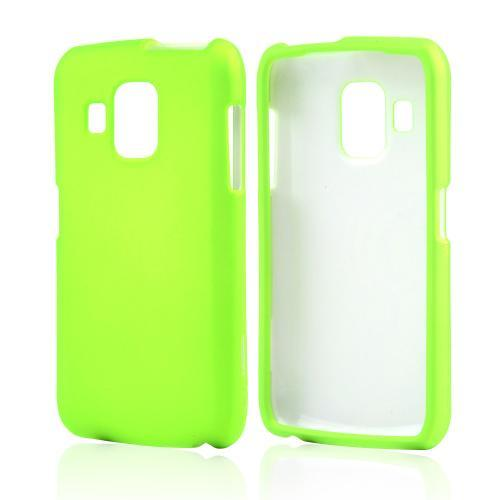 Neon Green Rubberized Hard Case for Pantech Perception