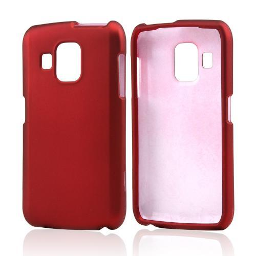 Red Rubberized Hard Case for Pantech Perception