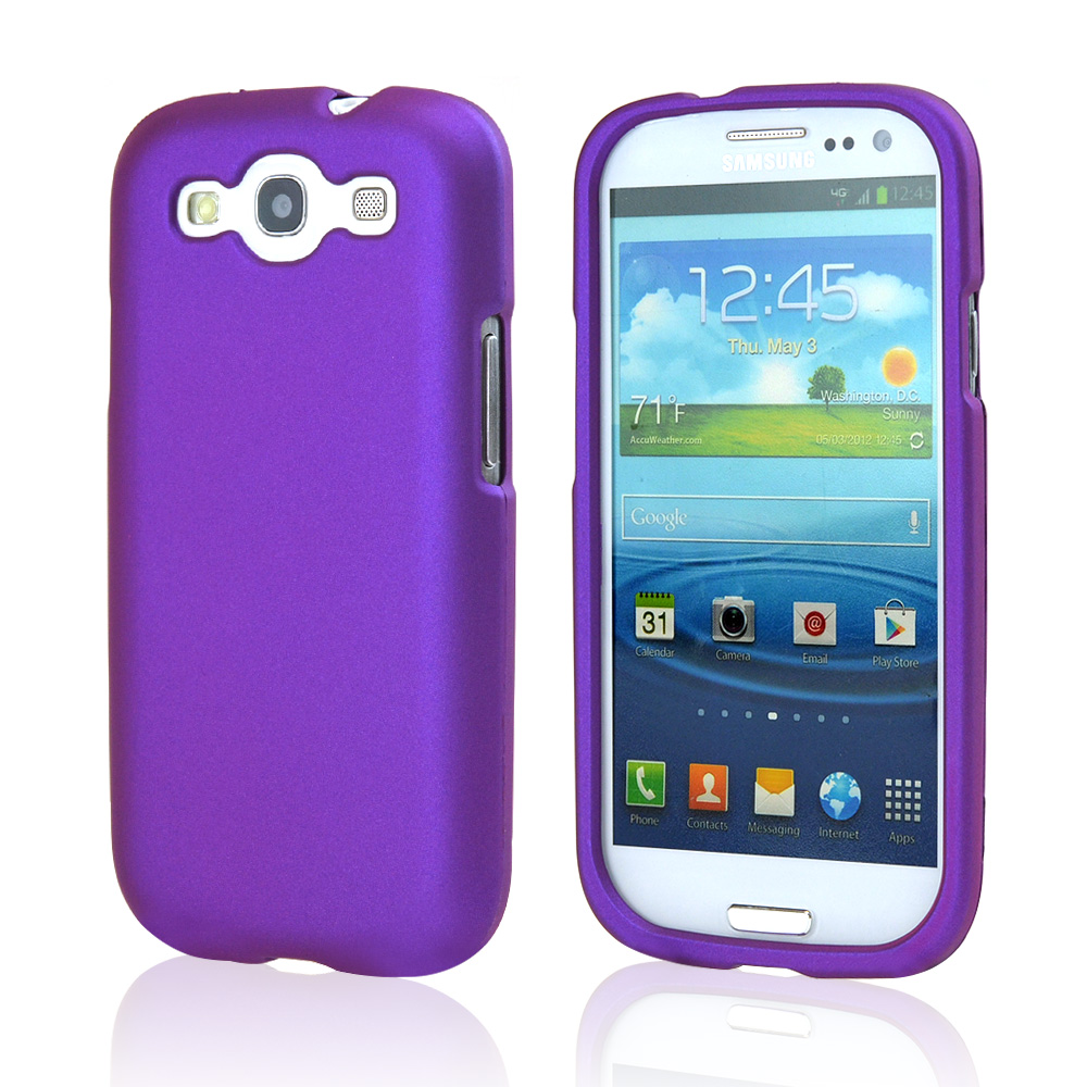 Samsung Galaxy S3 Rubberized Hard Case - Purple