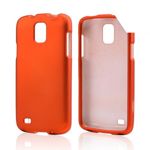 Orange Rubberized Hard Case for Samsung Galaxy S4 Active