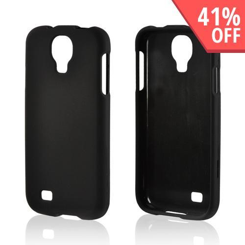Black Rubberized Hard Case for Samsung Galaxy S4