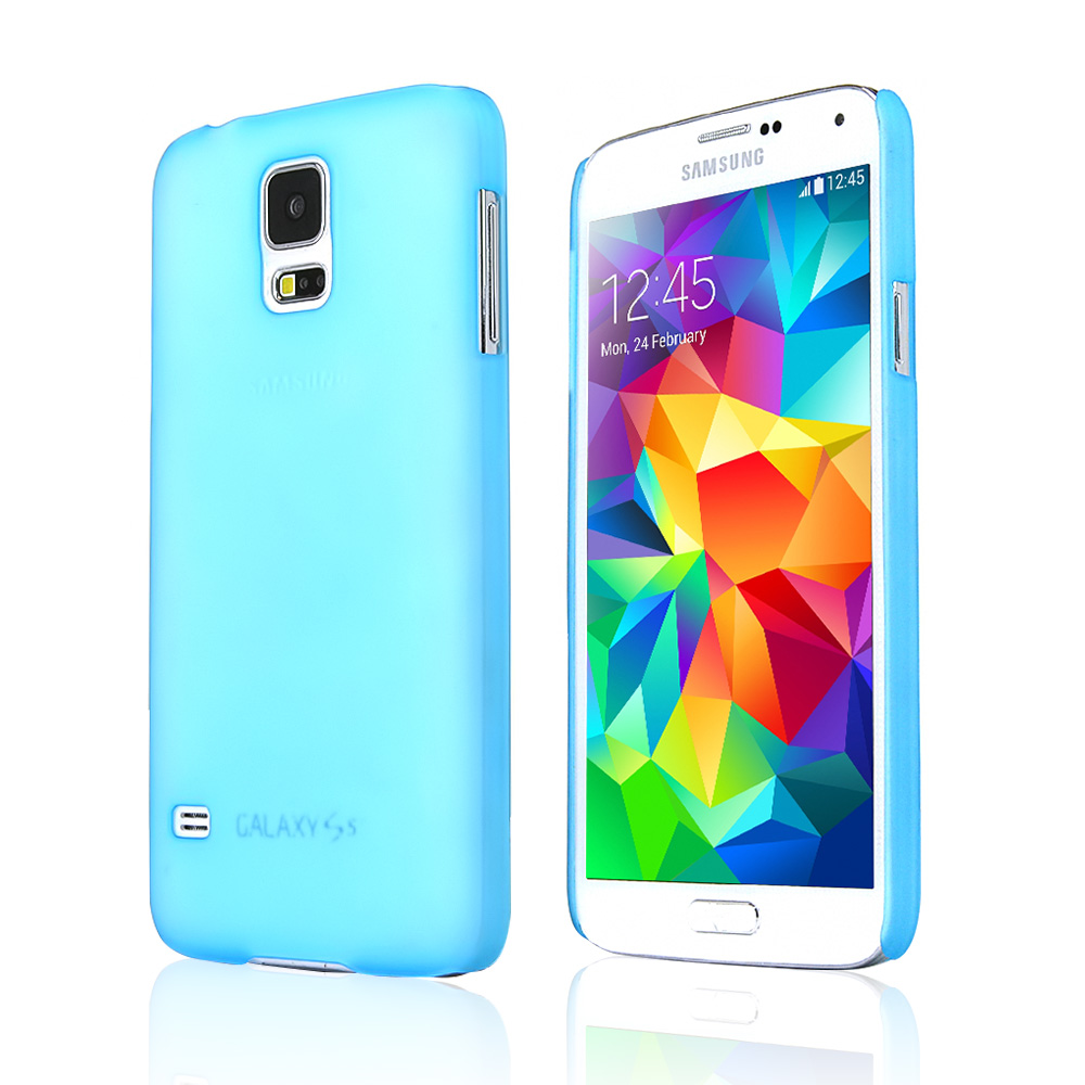 REDShield® Samsung Galaxy S5 Case | Ultra Slim Frosted Transparent Snap On Hard Case [Baby Blue]
