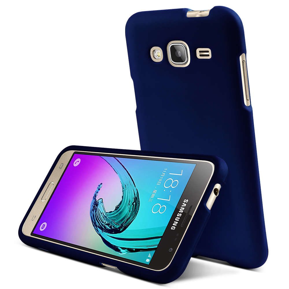 Samsung Galaxy J3 Case, REDshield [Blue]  Slim & Protective Rubberized Matte Finish Snap-on Hard Polycarbonate Plastic Case Cover