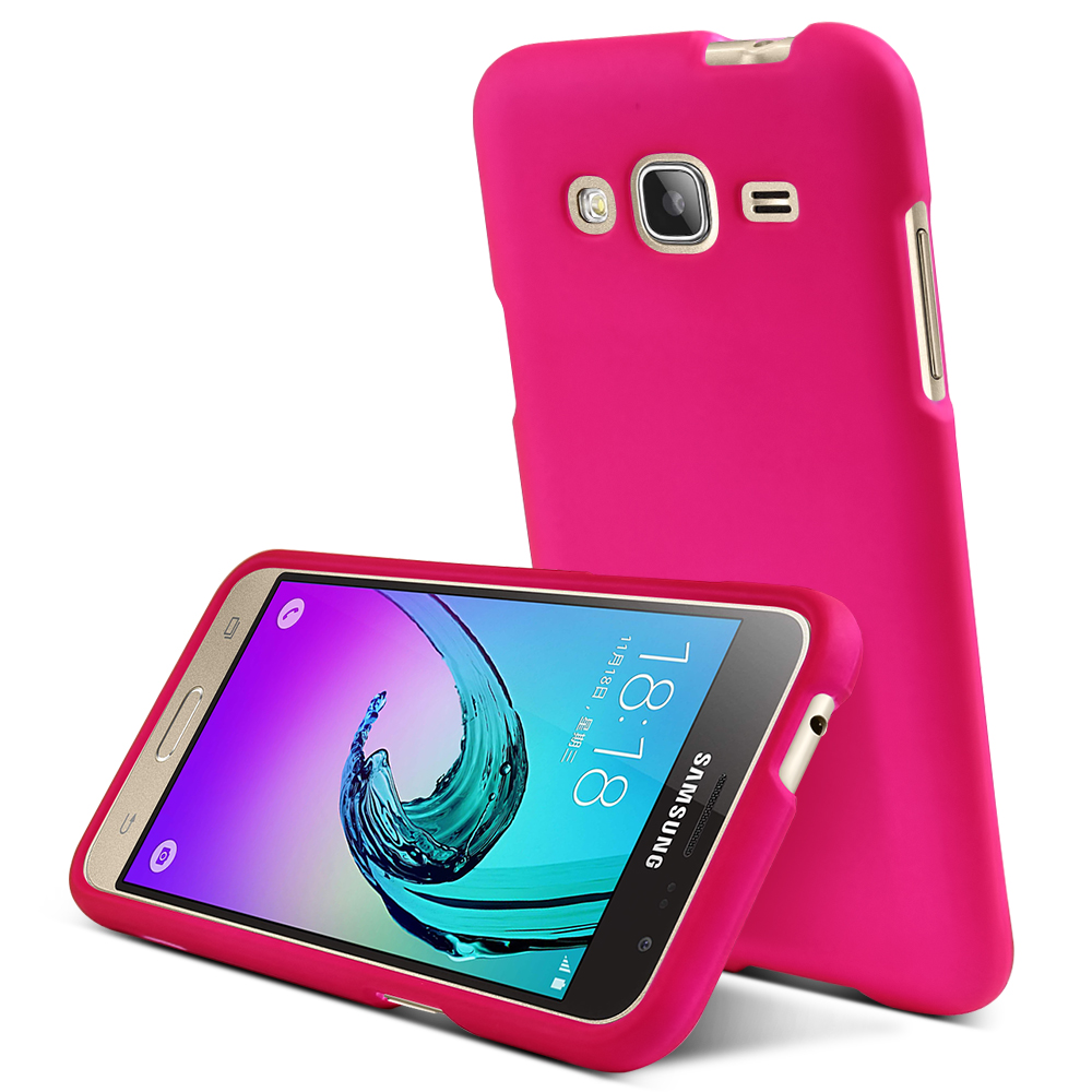 Samsung Galaxy J3 Case, REDshield [Hot Pink]  Slim & Protective Rubberized Matte Finish Snap-on Hard Polycarbonate Plastic Case Cover