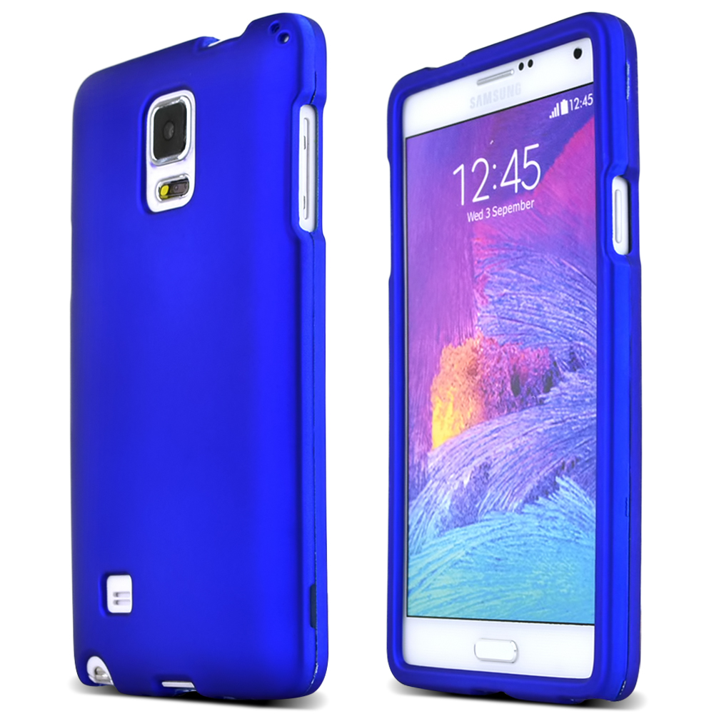 Samsung Galaxy Note 4 Case, [Blue]  Slim & Protective Rubberized Matte Finish Snap-on Hard Polycarbonate Plastic Case Cover