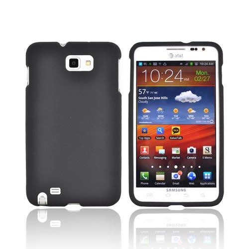 Samsung Galaxy Note Rubberized Hard Case - Black