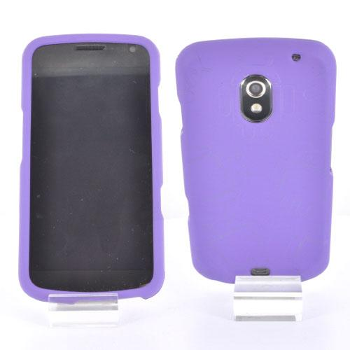 Samsung Galaxy Nexus Rubberized Androitastic Hard Case - Purple