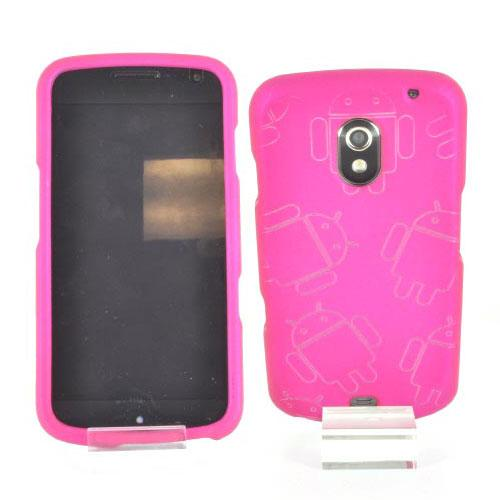 Samsung Galaxy Nexus Rubberized Androitastic Hard Case - Rose Pink