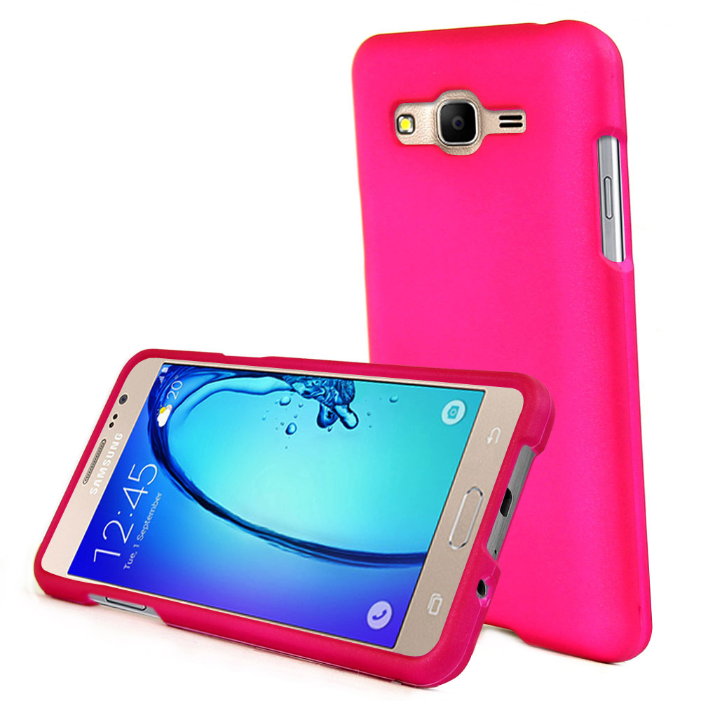 Samsung Galaxy On5 Case, REDshield [Hot Pink] Slim & Protective Rubberized Matte Finish Snap-on Hard Polycarbonate Plastic Case Cover with Travel Wallet Phone Stand