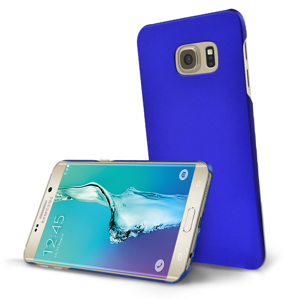 Samsung Galaxy S6 Edge Plus,  [Blue]  Slim & Protective Rubberized Matte Finish Snap-on Hard Polycarbonate Plastic Case Cover